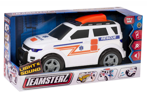 Teamsterz Ambulance 4x4 Lights & Siren Sounds Kids Diecast Toy